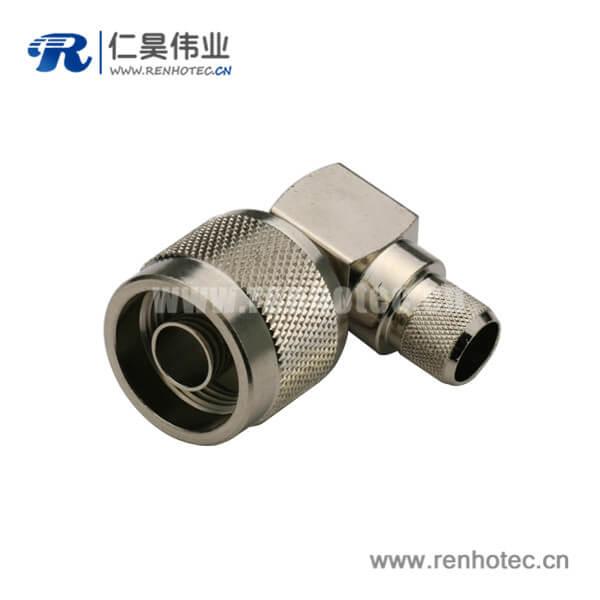 N头弯式压接公头射频连接线RG214