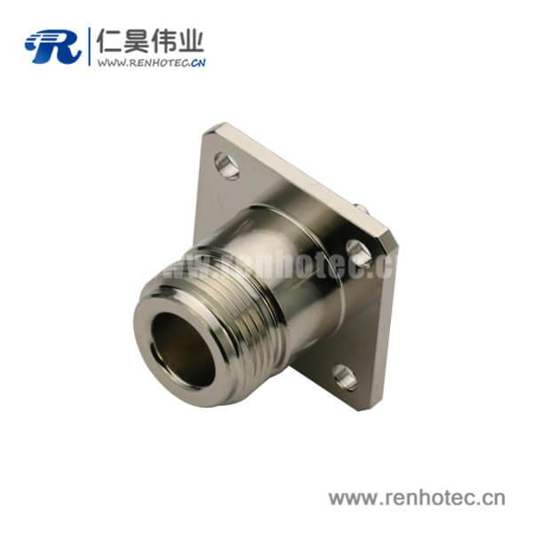 n型母头4孔法兰盘连接射频同轴线缆RG400,142