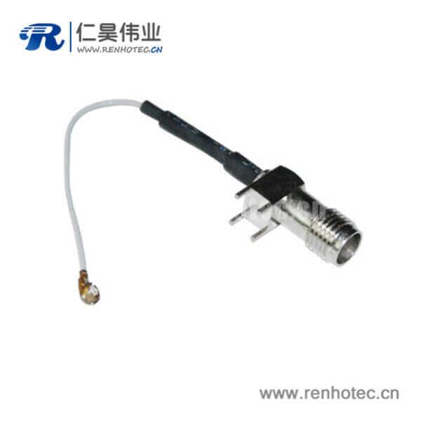 IPX U.FL射频同轴跳线线材接SMA弯插母头