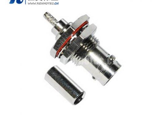 压接型BNC电连接器防水直式穿墙射频同轴接线