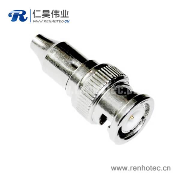 bnc接口焊接直式锌合金 公头射频同轴连接器