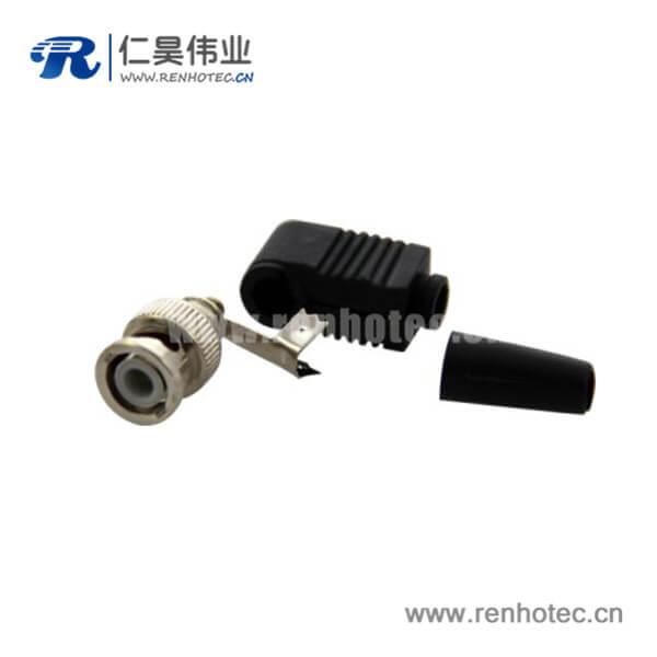 BNC射频同轴弯式公头电缆连接器