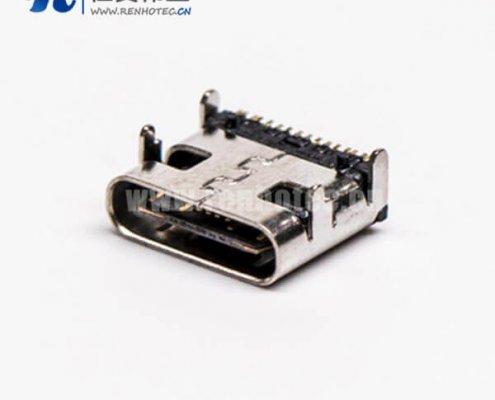 type c 贴板插板母头弯式USB3.0接PCB板