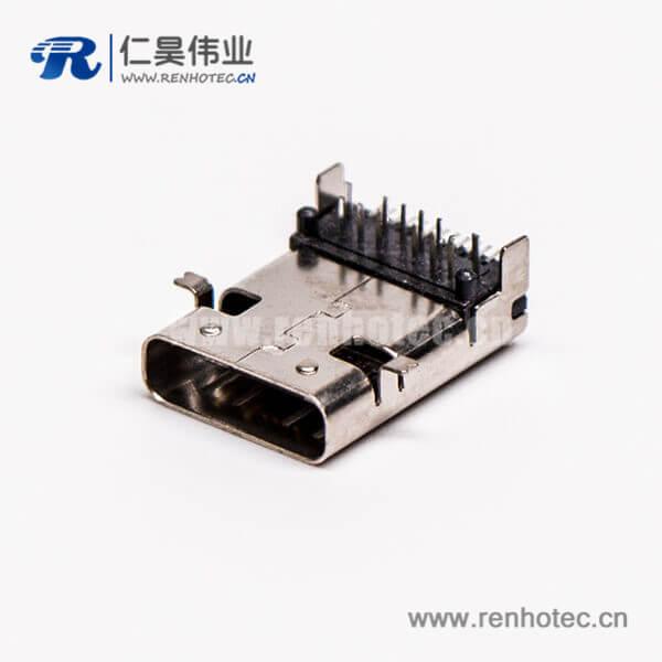 type c母座插板弯式四脚usb3.0连接器