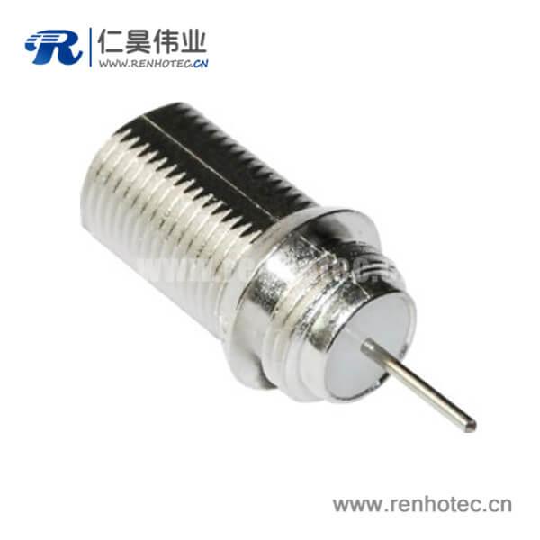 f连接器射频同轴直式母头面板安装