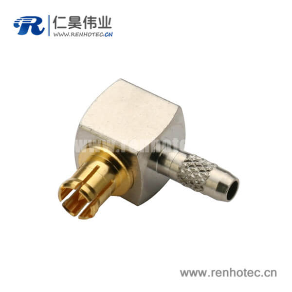 音频光纤连接线RG179 mcx射频同轴连接器弯式公头