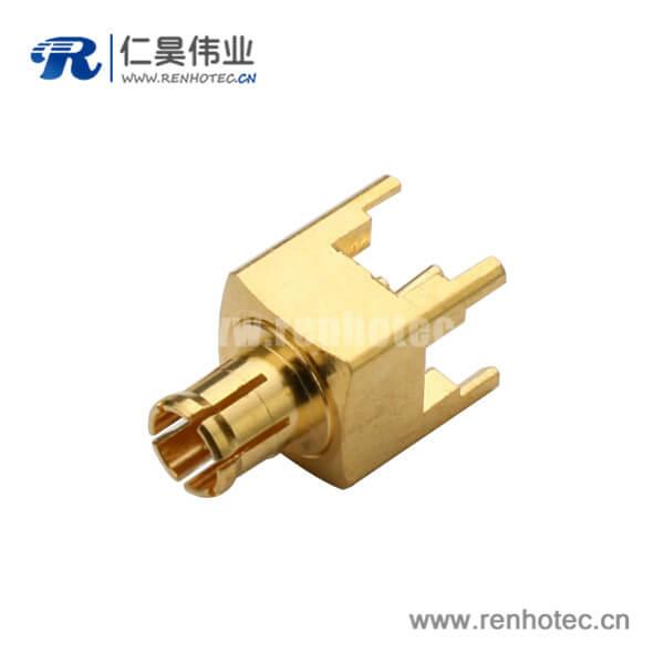 射频同轴连接器mcx直插式面板安装公头
