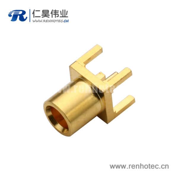 优质射频同轴连接器直插式镀金mcx面板安装母头