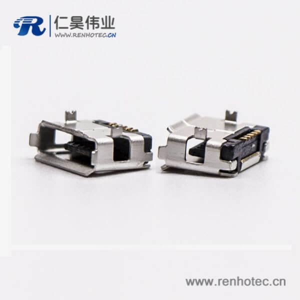 micro usb手机接口SMT母头A型两脚DIP 5.65