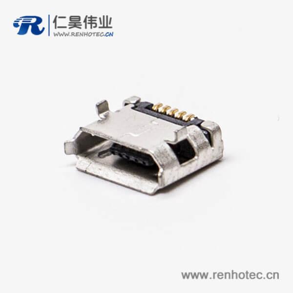 手机micro usb接口封装B型DIP 5.65