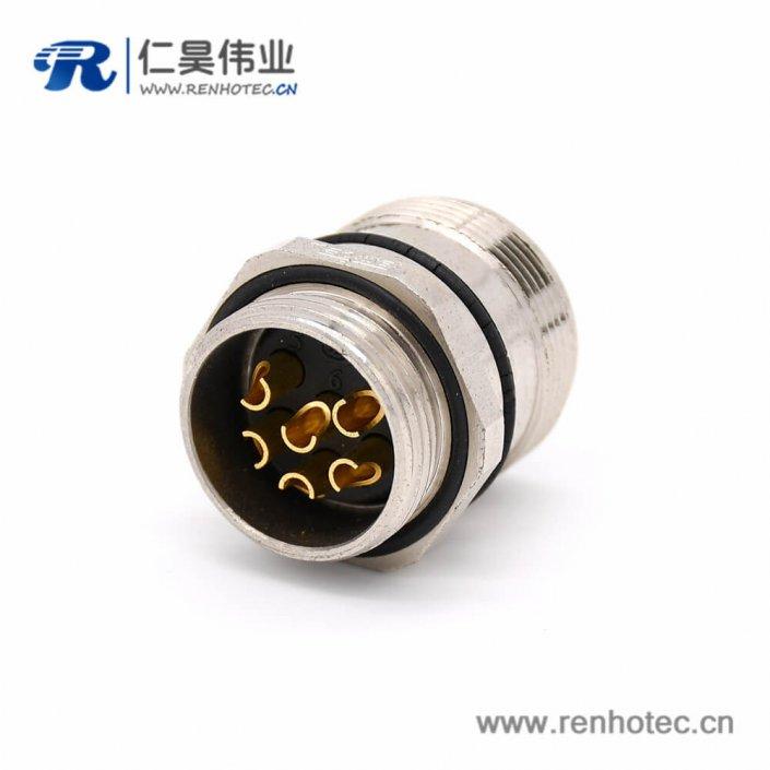 M型连接器 M623 6芯直式公头接线插座