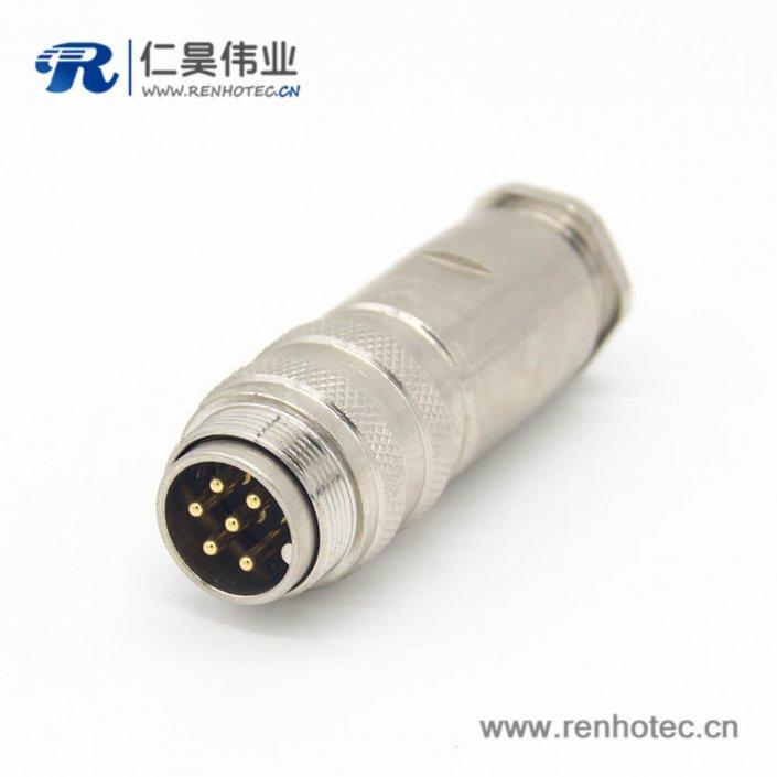 对接连接器 M16 6芯直式焊接公插头