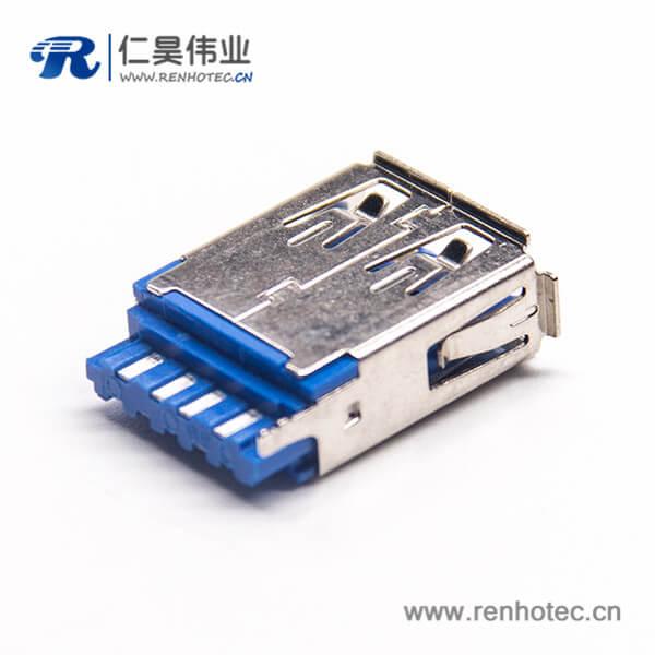 USB3.0 A母插板180度1U''无卷边铜壳