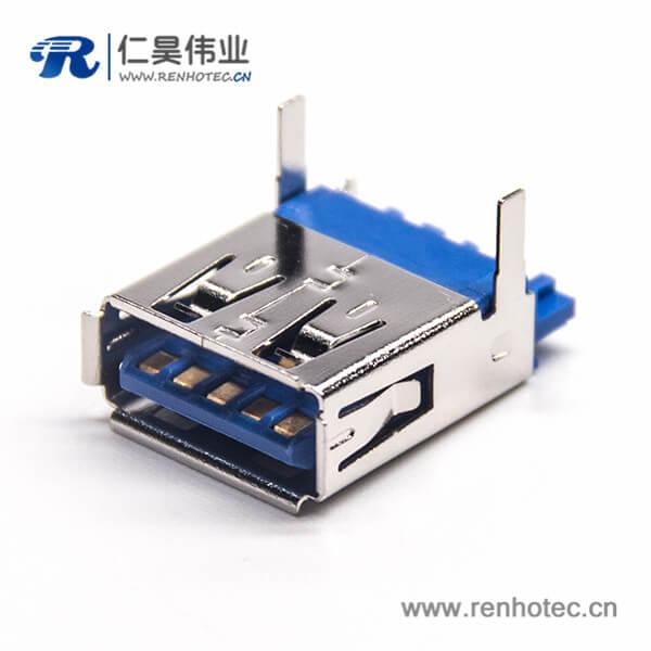 USB3.0A母焊线90度直角带90度1U''
