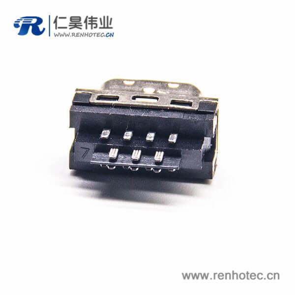 SCSI CN型插板式公头HPCN14芯公头直式
