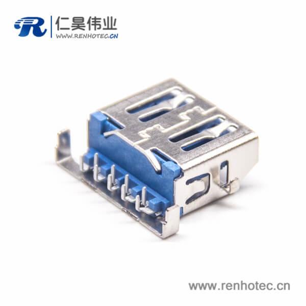 USB3.0pcb接头母座USB90度前5后43.0 USB接头