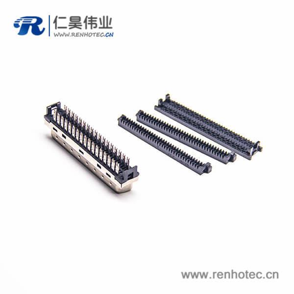 SCSI刺破式HPDB36芯公头直式插头连接器刺破式