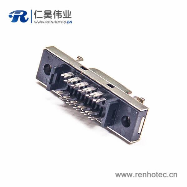 SCSI板对板连接器HPCN直式14芯刺破式面板安装母头插座