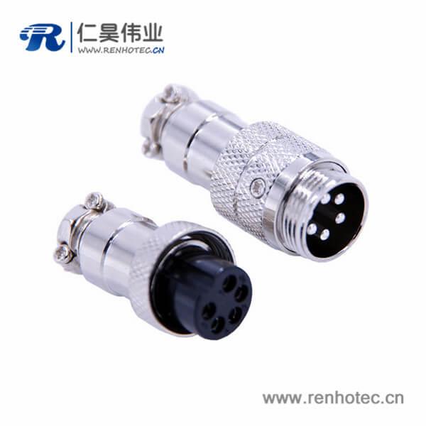GX16对接航空插头直式5芯防水IP55圆形连接器