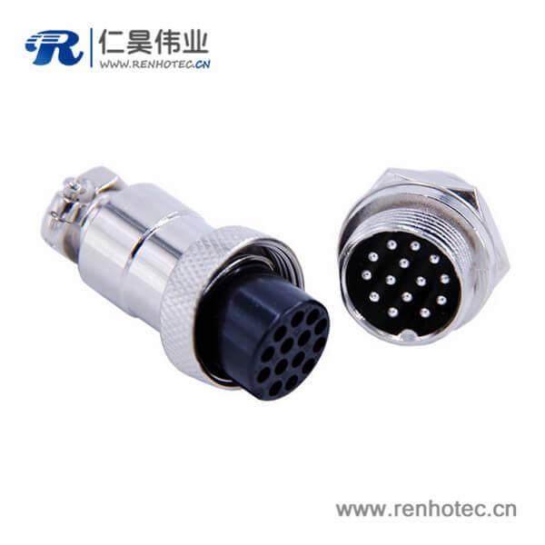 14芯航空插头连接器GX20直式常规款母插头公插座