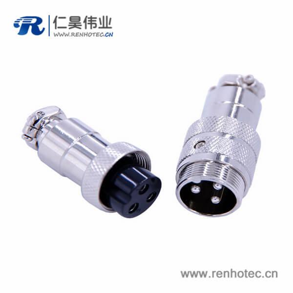 GX20对接航空插头3芯接线式直式电子连接器