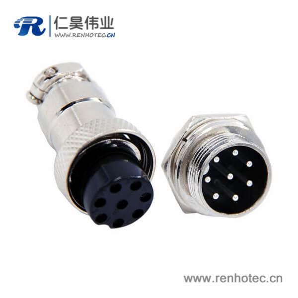 GX16 8芯航空连接器直式公母连接器