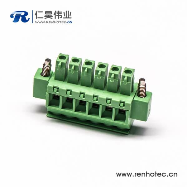 绿色插拔直式绿色欧式端子螺母锁紧带螺钉端子