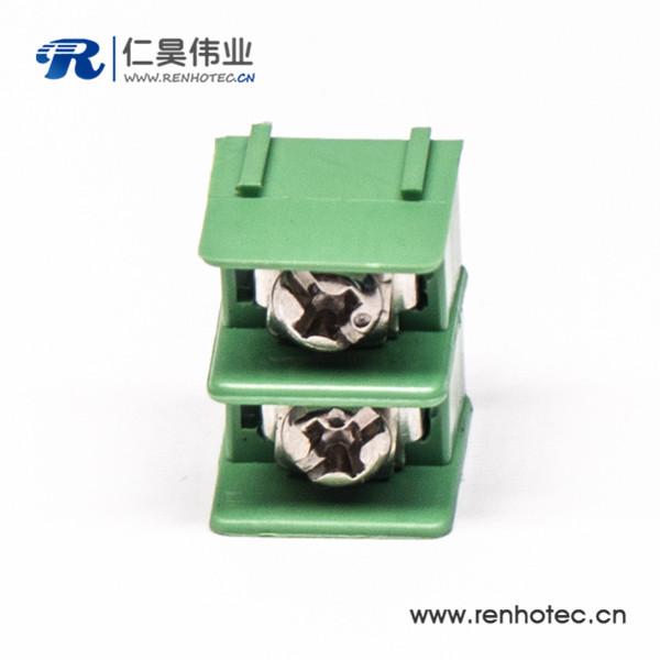 栅栏式插PCB板端子2芯绿色连接器