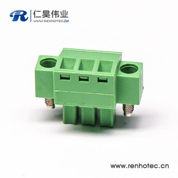 插拔式接线直式螺母接线端子锁紧绿色接线端子