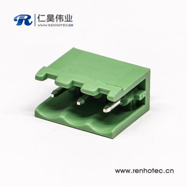 插拔式两侧空直式接线端子排3芯穿孔对接端子插座
