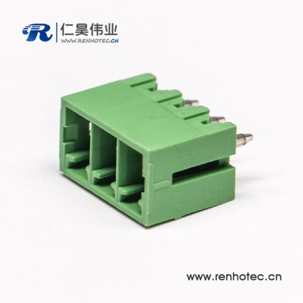 绿色接线端子台插拔式PCB端子对应插针压接接线