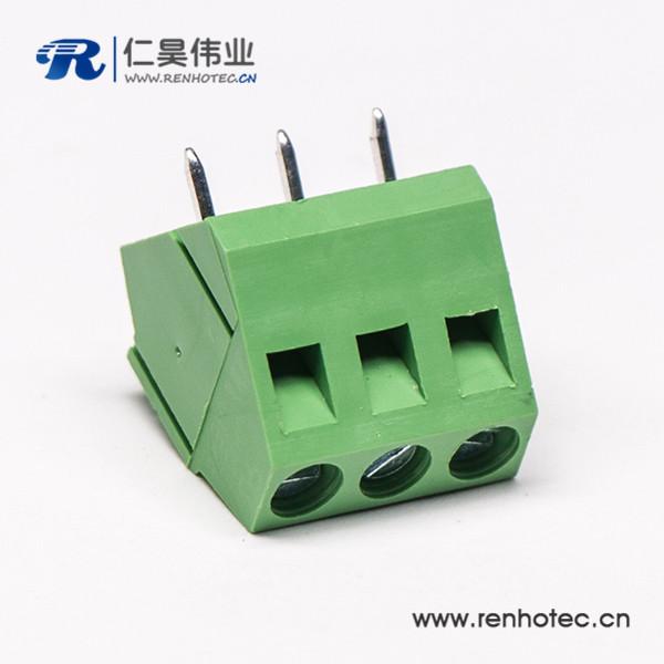 2芯直式绿色接线端子PCB螺钉式端子连接器
