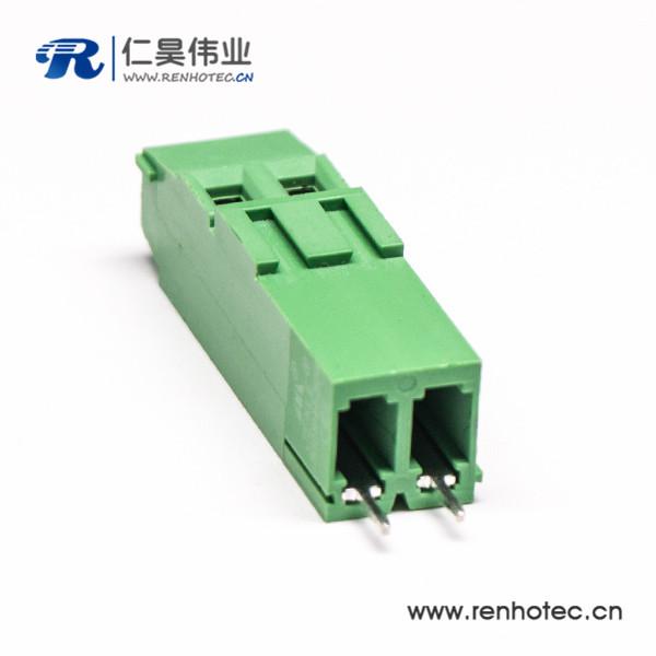 螺钉式2芯带螺钉PCB接线端子直式插孔PCB板安装