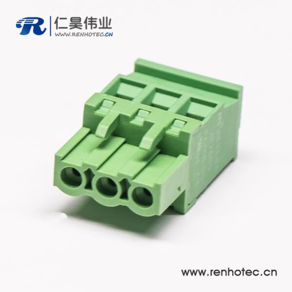 插拔式带螺钉直式插头接线端子绿色接线连机器端子