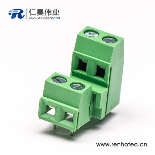 螺钉式2层4芯接线端子直式压接接线连接器