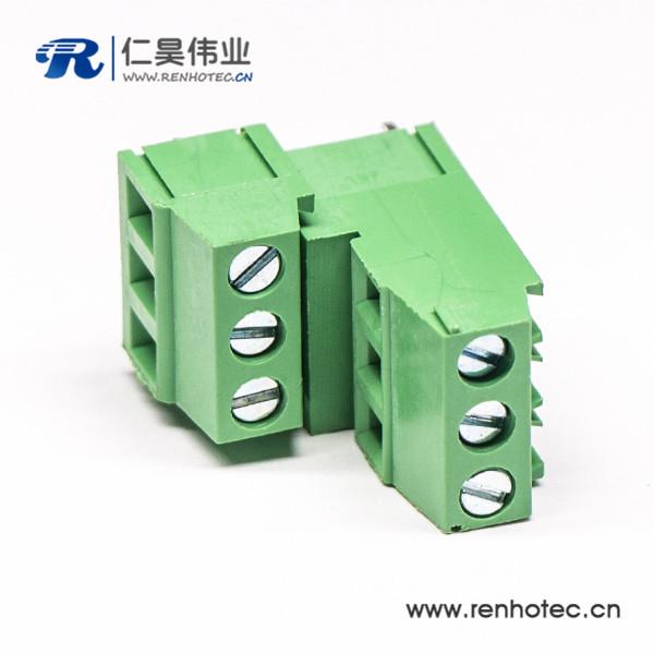 螺钉2层私心接线端子表贴插孔式绿色端子接线