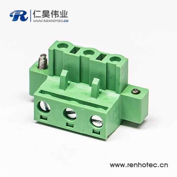 插拔式绿色螺母螺钉接线端子锁紧插拔式接线连接器