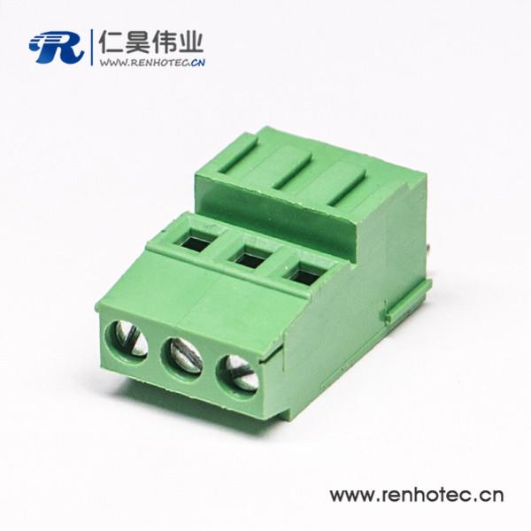 PCB螺钉式180度直式接线端子穿孔式接PCB板