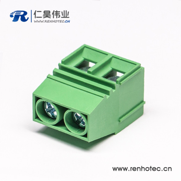 接线端子直式良芯穿孔式绿色PCB板端安装