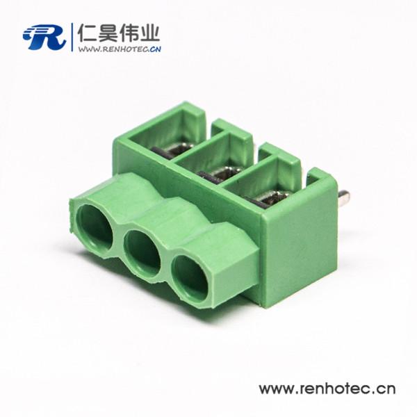 绿色端子3芯接线直式螺钉式接PCB板