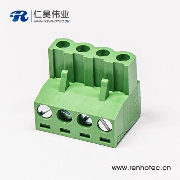 可插拔90度端子端子弯式四螺钉插拔式接线连接器