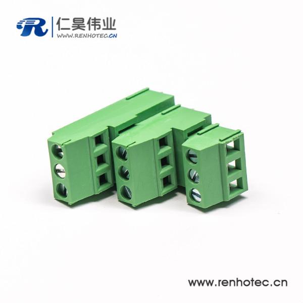 PCB接线端子 9芯带9个螺钉绿色3排的绿色端子接线