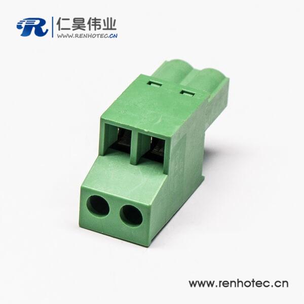 插拔端子插拔式绿色端子梯式双层4孔接线连接器