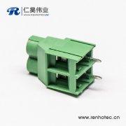 端子接线2芯直式绿色螺钉式接线端子