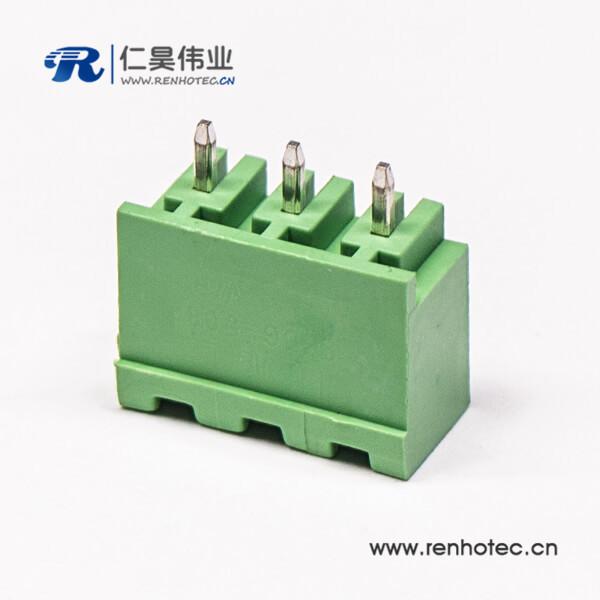 插拔式直式穿孔180度穿墙端子座子PCB板安装