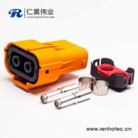 2芯150A电池连接器插头安费诺泰科替代款