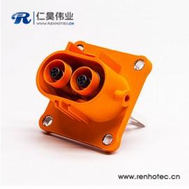 2芯200A汽车连接器高压自锁插座