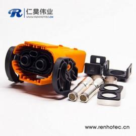 高压大电流2芯200A插头连接器安费诺泰科替代款