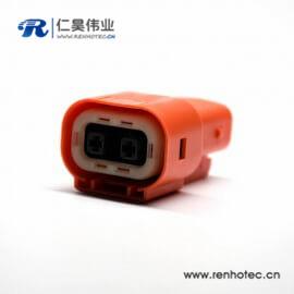 直式插头2芯高压连接器电流150A塑料绝缘体