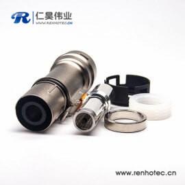 高压互锁金属带屏蔽连接器单芯8mm插头电流200A